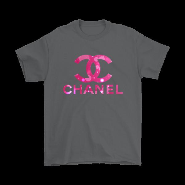 Coco Chanel Logo Pink Glitter Mens T-Shirt