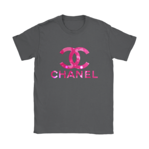 Coco Chanel Logo Pink Glitter Womens T-Shirt