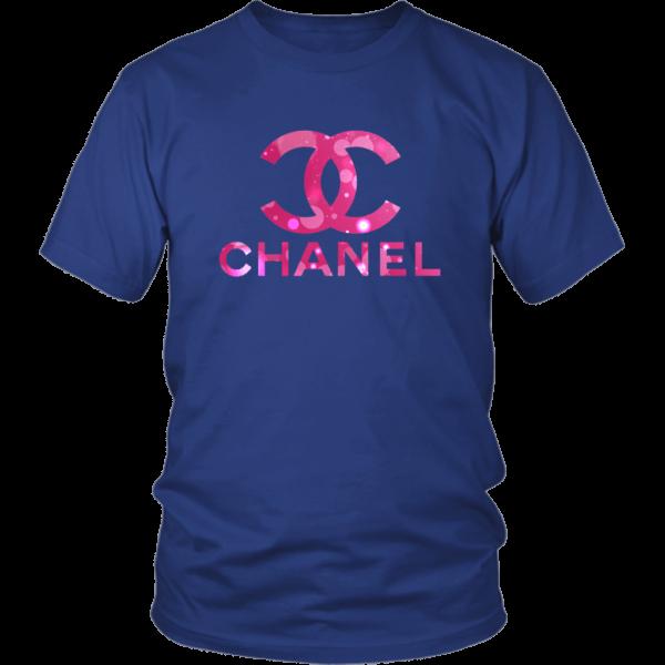 Coco Chanel Logo Pink Glitter Unisex Shirt