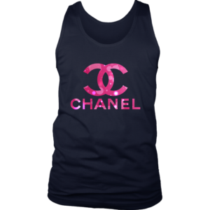 Coco Chanel Logo Pink Glitter Mens Tank Top