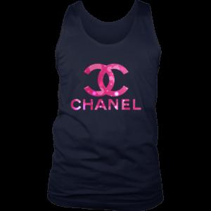 Coco Chanel Logo Pink Glitter Mens Tank Top