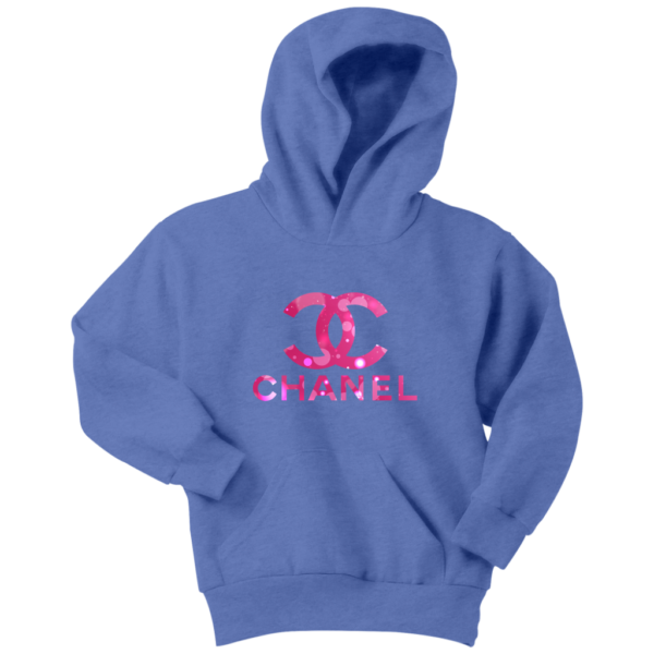 Coco Chanel Logo Pink Glitter Youth Hoodie