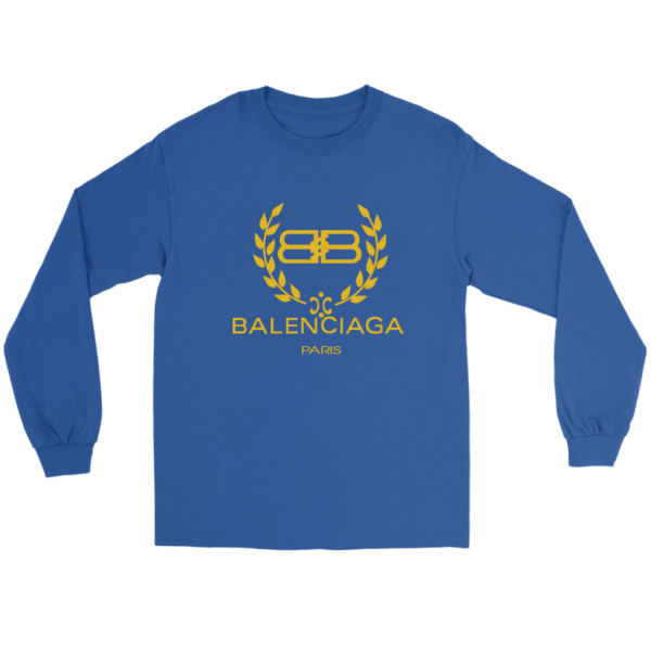 Balenciaga Logo Gold Edition Long Sleeve Tee