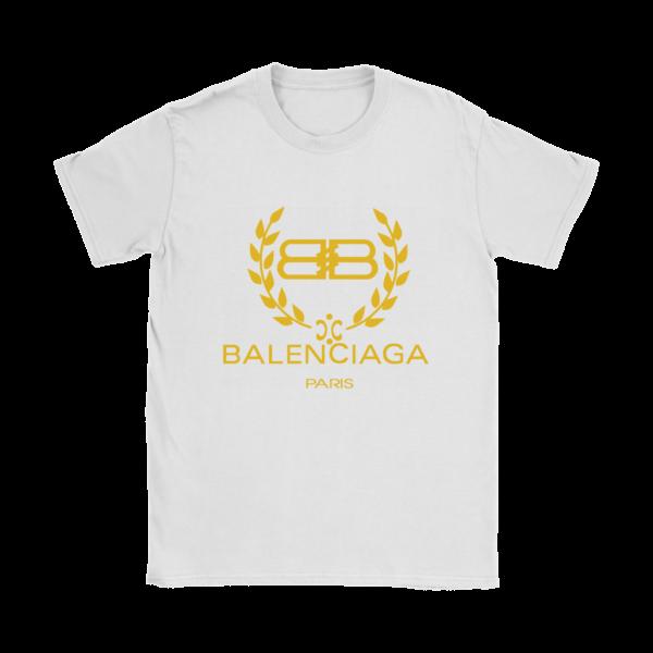 Balenciaga Logo Gold Edition Womens T-Shirt