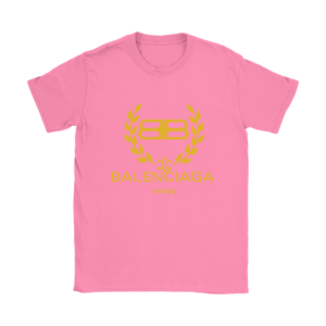 Balenciaga Logo Gold Edition Womens T-Shirt