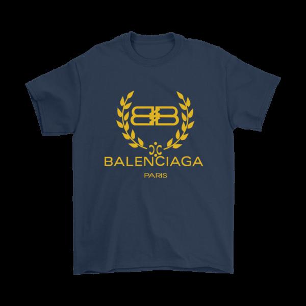 Balenciaga Logo Gold Edition Mens T-Shirt