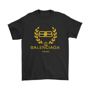 Balenciaga Logo Gold Edition Mens T-Shirt