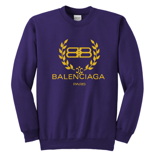 Balenciaga Logo Gold Edition Youth Crewneck Sweatshirt