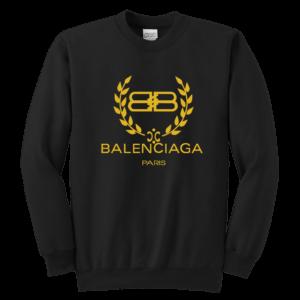 Balenciaga Logo Gold Edition Youth Crewneck Sweatshirt