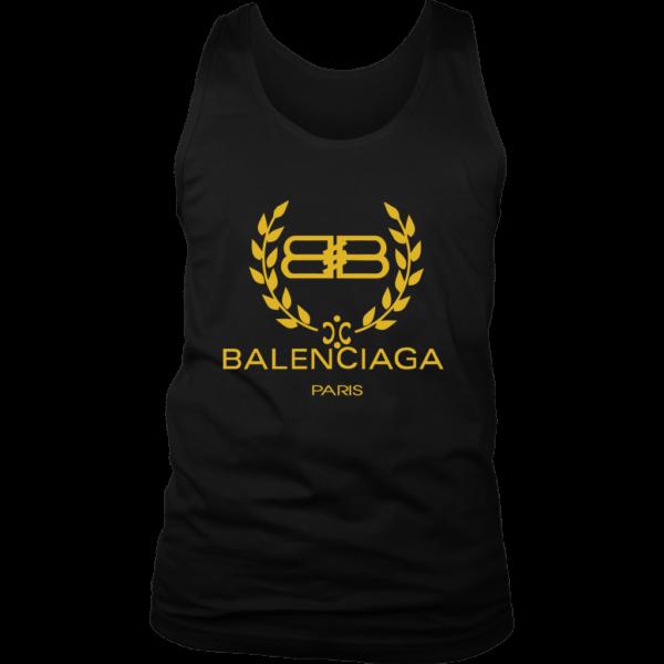 Balenciaga Logo Gold Edition Mens Tank