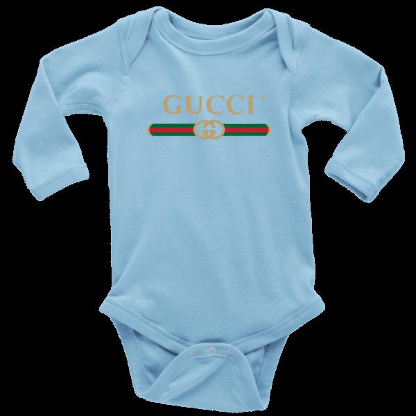 Gucci Logo 2021 Long Sleeve Baby Bodysuit