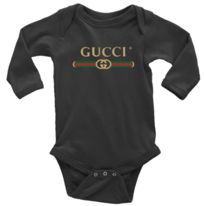 Gucci Logo 2021 Long Sleeve Baby Bodysuit