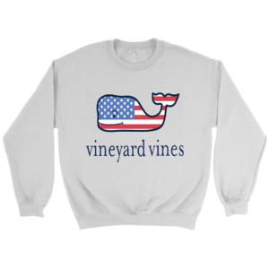 Vineyard Vines Flag Whale Crewneck Sweatshirt