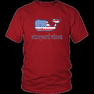 Vineyard Vines Flag Whale Unisex Shirt