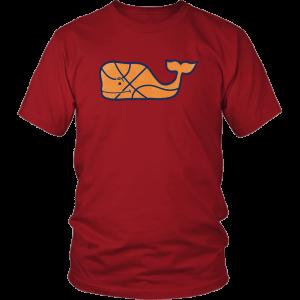 Vineyard Vines Basketball Character Whale Pocket Unisex Shirt