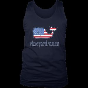 Vineyard Vines Flag Whale Mens Tank