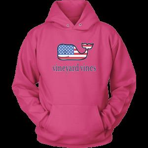 Vineyard Vines Flag Whale Unisex Hoodie